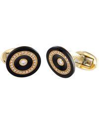 Piaget Piaget 18k 0.60 Ct. Tw. Diamond & Onyx Cufflinks - Multicolor