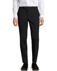 John Varvatos - Striped Slim Fit Straight Leg Trousers - Lyst