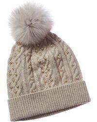 Sofia Cashmere Sofiacashmere Cashmere Knit Hat - White
