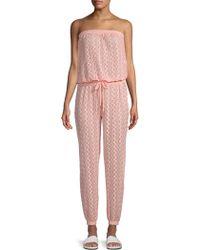 Melissa Odabash Stella Embroidered Cover-up Jumpsuit - Pink