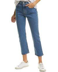 Levi's 501 Patched Crop Jean - Blue