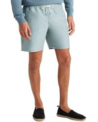 Club Monaco Bo Solid Swim Trunk - Blue