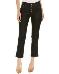 AG Jeans The Isabelle Indigo Autumn High-rise Straight Crop - Blue