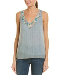 French Connection Tahtini Embellished Tank - Blue