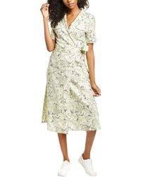 Habitual Nola Safari Linen-blend Shirtdress - Green