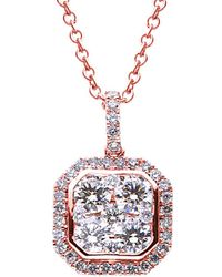 Suzy Levian 18k 0.58 Ct. Tw. Diamond Pendant Necklace - Metallic
