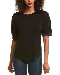 Donna Karan Blouson Top - Black