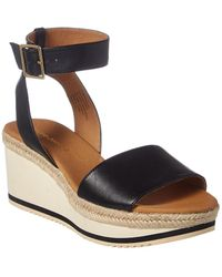 Andre Assous - Petra Leather Wedge Sandal - Lyst