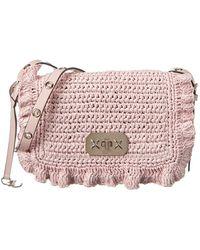 RED Valentino Straw Shoulder Bag - Pink