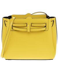 Loewe Lazo Leather Crossbody - Yellow