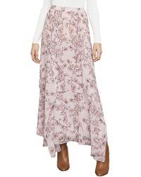 BCBGMAXAZRIA Bcbg Amali Drape-front Maxi Skirt - Pink