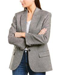 Zadig & Voltaire Vow Silver Wool & Silk-blend Jacket - Metallic