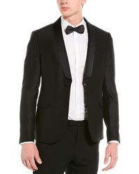 Valentino Wool & Silk-blend Blazer - Black