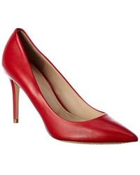 Theory Demeura Leather Pump - Red
