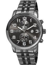 August Steiner - Stainless Steel Chronograph Watch, 44mm - Lyst
