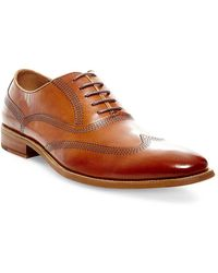 Steve Madden - Leather Wingtip Oxfords - Lyst
