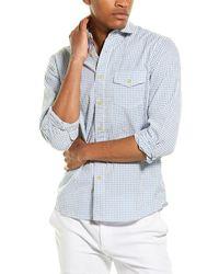 Grayers Gingham Seersucker Shirt - Blue