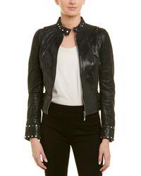Karen Millen Leather Jacket - Black