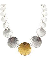 Gurhan Hourglass 24k Over Silver Necklace - Metallic