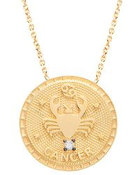 Gabi Rielle - 22k Over Silver Cancer Cz Necklace - Lyst