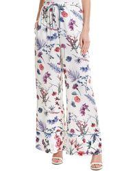 BCBGMAXAZRIA Floral Pant - White
