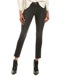 J.Crew Toothpick Charcoal Wash High-rise Jean - Gray