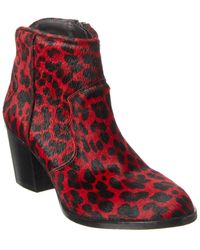 Zadig & Voltaire Molly Leopard Haircalf Boot - Red