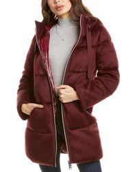 Herno Plain Medium Down Wool-blend Jacket - Red