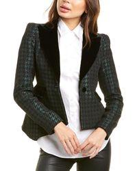 Valentina Shah Maria Wool-blend Blazer - Green