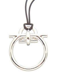 Ferragamo Gancini Metal Necklace - Black