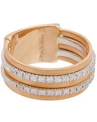 Marco Bicego Goa 18k Rose Gold 0.26 Ct. Tw. Diamond Ring - Metallic