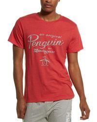 Original Penguin Logo T-shirt - Red