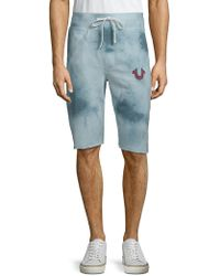 True Religion - Tie-dye Logo Shorts - Lyst