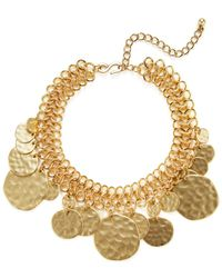 Kenneth Jay Lane - Textured Coin Collar Necklace - Lyst