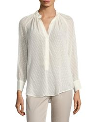 Tracy Reese - Henley Peasant Shirt - Lyst