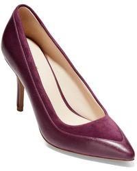 Cole Haan Valerie Leather Pump - Purple
