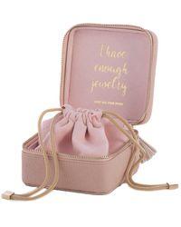 Shiraleah Gigi Square Jewelry Box - Pink