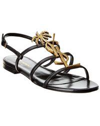 Saint Laurent Cassandra Leather Sandal - Multicolour