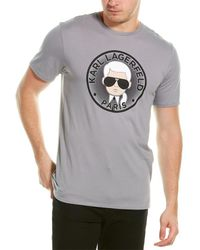 Karl Lagerfeld Coin Circle T-shirt - Grey