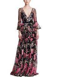 Marchesa notte Floral Gown - Multicolour