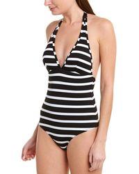 Shoshanna Swimwear Halter One-piece - Black