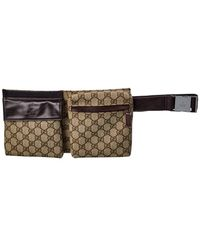 Gucci Beige GG Canvas Waist Bag - Natural