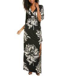 Melissa Masse Flower Dress - Black