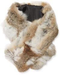 Surell - Rex Rabbit Pieced Clip Scarf - Lyst
