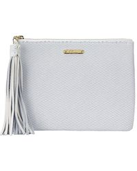 Gigi New York Uber Leather Clutch - White