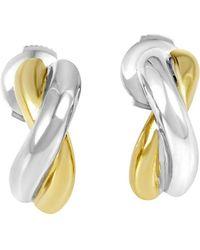 Poiray 18k Two-tone Drop Earrings - Metallic