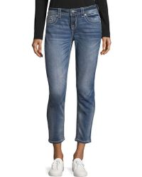 Miss Me Whiskered Skinny Ankle Jeans - Blue