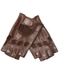 Maison Fabre - Perforated Leather Gloves - Lyst