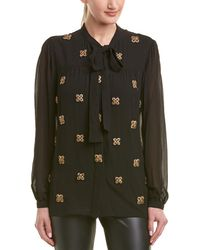 Saint Laurent Silk Shirt - Black