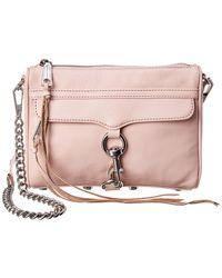 Rebecca Minkoff Mini Mac Leather Crossbody - Pink